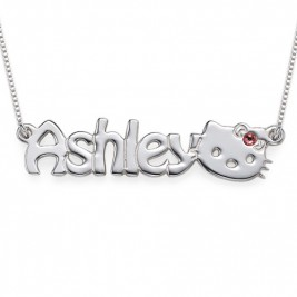 Kitten Nameplate Necklace for Girls