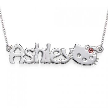 Kitten Nameplate Necklace for Girls