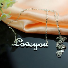 Personalised Sterling Silver Cursive Name Necklace