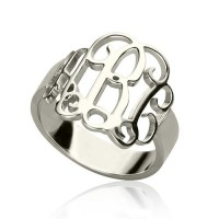 Personalised Sterling Silver Monogram Ring