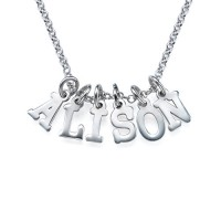 Multiple Initial Necklace in Silver