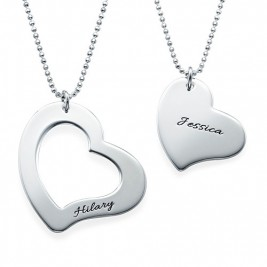 Mum is My Heart Mother Daughter Necklaces