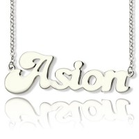 Ghetto Name Necklace Sterling Silver