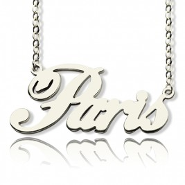 "Custom Name Necklace Sterling Silver ""Paris"""