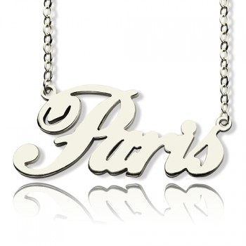 """Custom Name Necklace Sterling Silver """"Paris"""""""