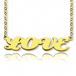 Gold Plated Capital Name Necklace Personalised