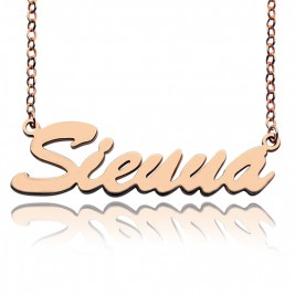 18ct Rose Gold Plated Sienna Style Name Necklace