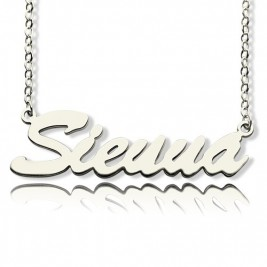 Sterling Silver Sienna Style Name Necklace