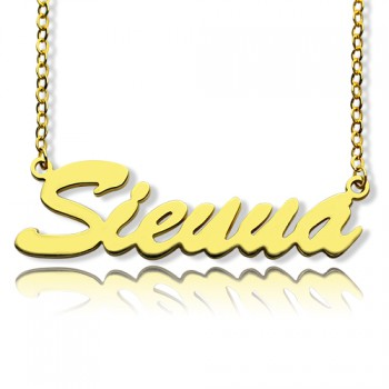18ct Gold Plated Sienna Style Name Necklace