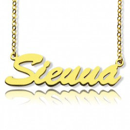 "18ct Gold Plated Personalised Name Necklace ""Sienna"""