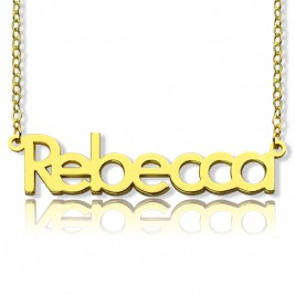 "Nameplate Necklace 18ct Gold Plating ""Rebecca"""