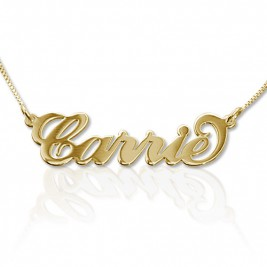 18ct Gold-Plated Silver Carrie Name Necklace