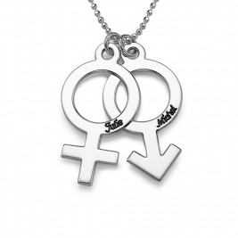 Necklace with Female  Male Symbol