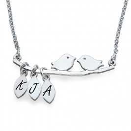 Personalised Mum Jewellery – Silver Bird Necklace