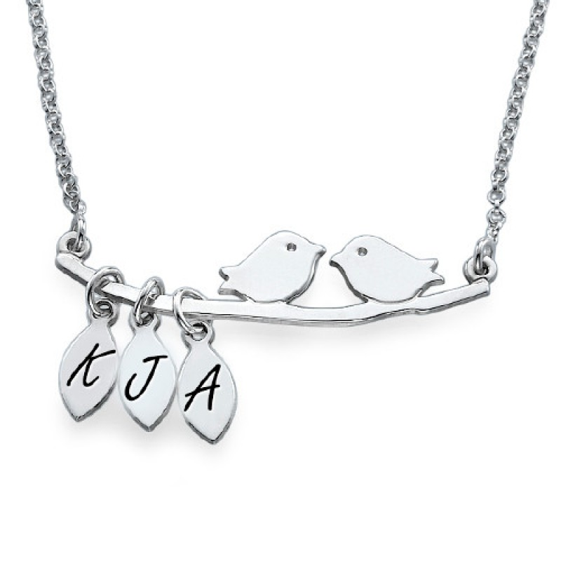 Personalised mum jewellery silver bird necklace mozeypictures Image collections