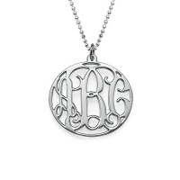 Personalised Circle Initials Necklace