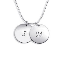Personalised Sterling Silver Disc Pendant Necklace