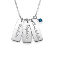 Personalised Necklace with Crystal Birthstone