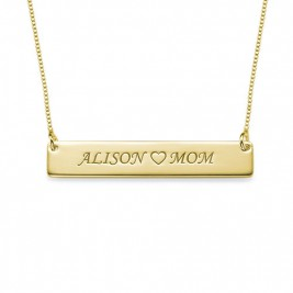18ct Gold Plated Personalised Nameplate Necklace