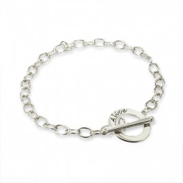 Personalised Sterling Silver T-Bar Bracelet/Anklet