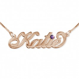 Rose Gold Plated Silver Swarovski Necklace