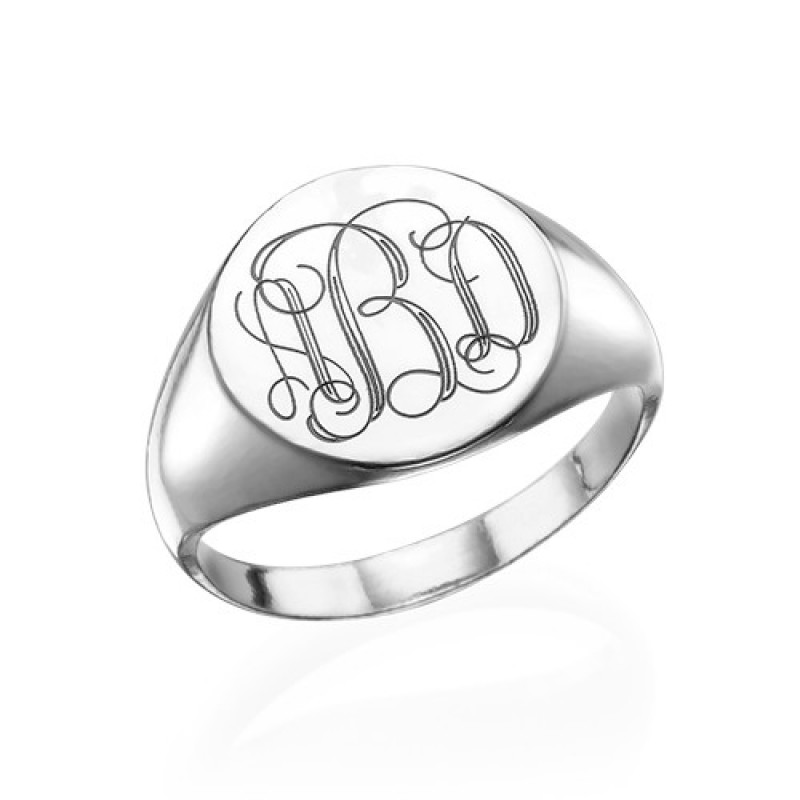 Personalised Sterling Silver Name Ring