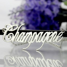 Unique Name Necklace Sterling Silver
