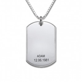 Father's Day Gifts - Silver Dog Tag Necklace