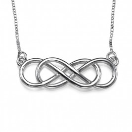 Silver Double Infinity Necklace