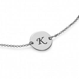 Sterling Silver Initial Bracelet/Anklet