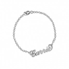 Silver and Crystal Name Bracelet/Anklet