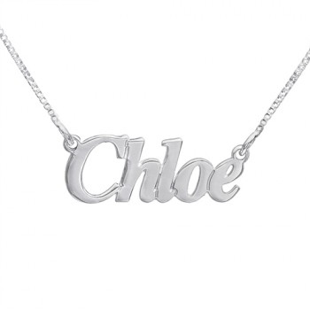 655bdb0a101f1 Small Angel Style Silver Name Necklace