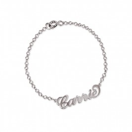 "Sterling Silver ""Carrie"" Name Bracelet / Anklet"