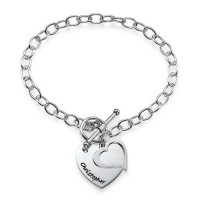 Sterling Silver Double Heart Charm Bracelet/Anklet