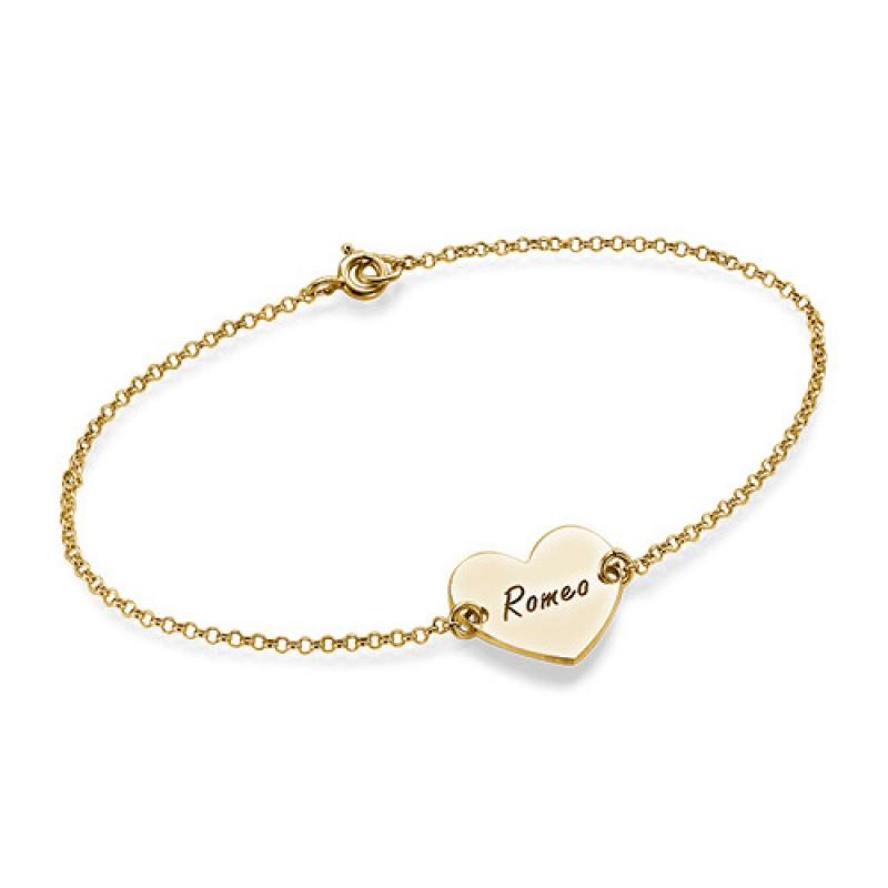 sterling silver engraved heart couples bracelet anklet. Black Bedroom Furniture Sets. Home Design Ideas