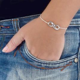 Sterling Silver Engraved Infinity Bracelet/Anklet