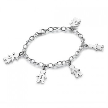 Sterling Silver Engraved Mothers Day Bracelet/Anklet