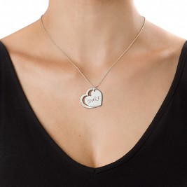 Family Heart Necklace in Silver