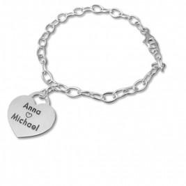 Sterling Silver Heart Charm Bracelet/Anklet