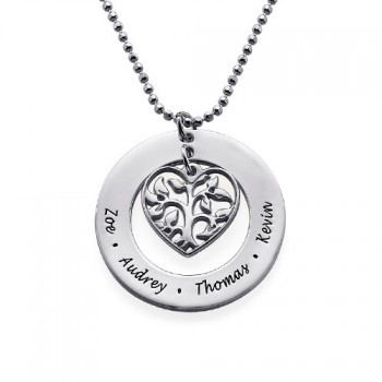 Heart Family Tree Necklace - Gifts for Mum