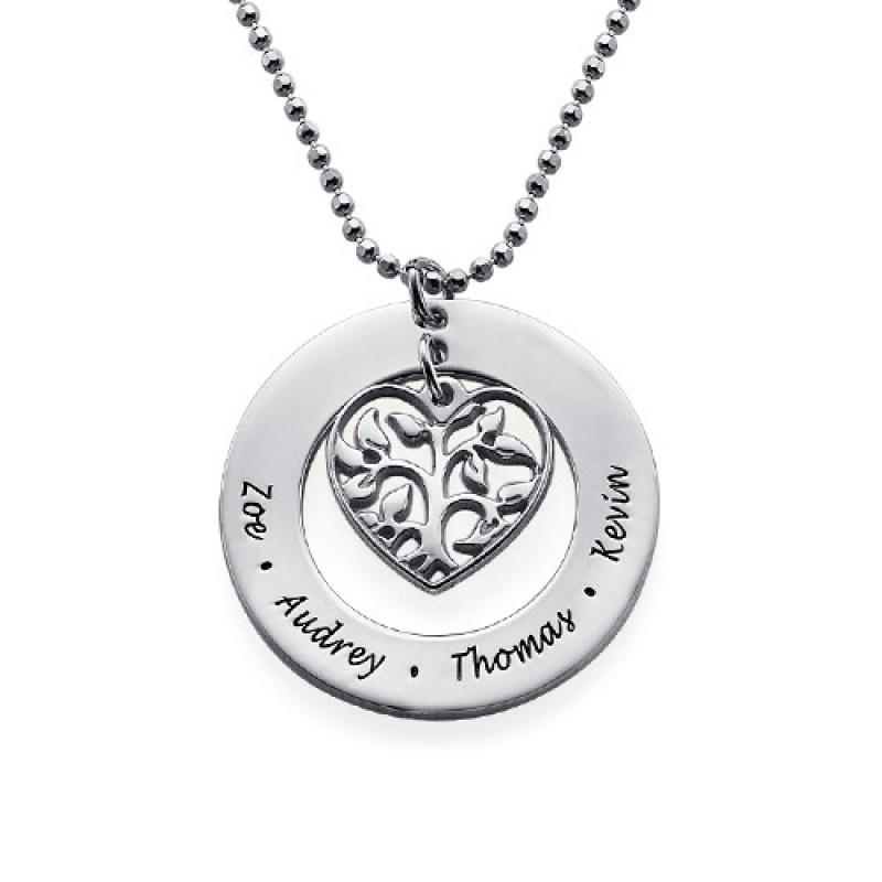 tags necklace kids products upsidesown name family treen tree danique with names jewelry