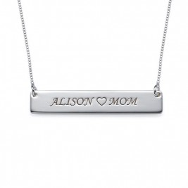 Nameplate Necklace in Sterling Silver