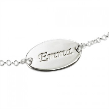 Sterling Silver Personalised Baby Bracelets/Anklet