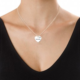 Swarovski Heart Necklace with Engraving