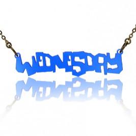 Personalised Acrylic Name Necklace Ultimatum Font Necklace
