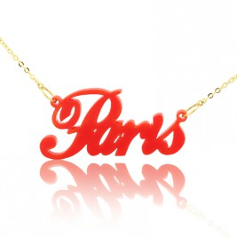 Colorful Acrylic Paris Style Name Necklace