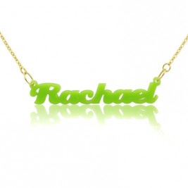 Custom Colorful Acrylic Name Necklace