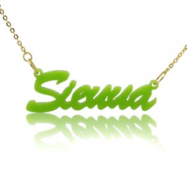 Personalised Acrylic Necklace with Name