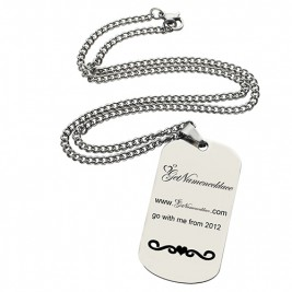 Logo and Brand Design Dog Tag Necklace