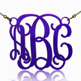 Personalised Cut Out Acrylic Monogram Necklace